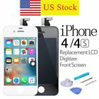 LCD Screen Display Assembly Replacement  Digitizer For iPhone 4/4S  Black White