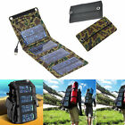Portable Solar Charger Pack Kits Foldable 5W/7W Solar Panel Charging Bag Camping