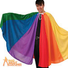 Adult Rainbow Cape Mens Ladies Joseph Gay Pride Carnival Fancy Dress Outfit New