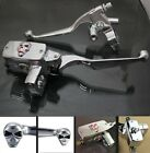 "1"" Handlebar Skull Reservoir Master Cylinder Brake Clutch Levers For Harley 25mm"