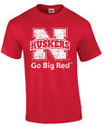 "Ink Images Adult ""Go Big Red"" Nebraska Shirt"