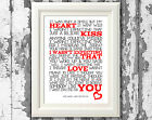 Song Lyrics Jamie Lawson Wasnt Expecting That Poster Art Prints Typography