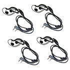 4-Pack G Shape 2 Pin Earpiece Headset for Kenwood TH / TK Series Radio Device