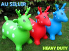 Huge Indoor Outdoor Inflatable Rubber Ride On Bouncy Deer Childrens Toy XMAS AU