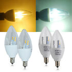 6 x E12 5W Dimmable SMD LED Candle Light Bulbs Chandelier Lamp Cool Warm White