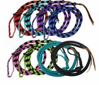 Showman 4.5 ft Braided nylon Over & Under whip with leather popper