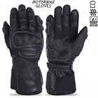 Motorbike Leather Touch Screen Bikers Knuckle Protection Motorcycle Gloves