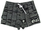 "JOHN GALLIANO ""Newspaper 1OA"" mens surf board shorts swim trunks (black) NEW"