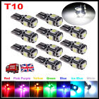 T10 LED CAR BULB WHITE ERROR FREE CANBUS 501 194 168 W5W 5SMD SIDE LIGHT LAMP UK