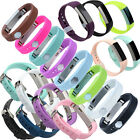 TEXTURED Silicone Classic Wristband Strap For Fitbit Alta Small Large Band L S