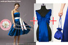 Dolly bag shawl party prom bridesmaid ballgown cocktail evening pagent dress