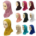Kids Girls Flower Hijab Caps Muslim Scarf Shawls Islamic Hats Underscarf Arab