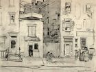 East 22nd Street New York Vintage Drawing Wall Print POSTER