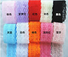 Wholesale!5 Yard Bilateral Handicrafts Embroidered Net Lace Trim Ribbon