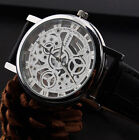 New Fashion  Men's Date 2016 Leather Stainless Steel Military Sport Wrist Watch