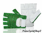 MESH CROCHET PALM LEATHER HALF FINGER WORKING WEIGHT LIFTING WHEEL CHAIR GLOVES