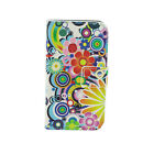 Classic Flower Flip PU Leather Wallet Card Stand Case Cover For Samsung Galaxy