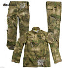 Tactical A-TACS FG Military Camo Camouflage Suit Airsoft Uniform Set-Jacket Pant
