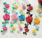 FD3780 Vintage Embroidered Plum Blossom Flower Floral DIY Collar Dress Patch ☆