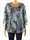 New with Tags Marina Kaneva Abstract Batwing Top Plus Size 18 20 FREE UK POST