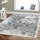 Opulence Area Rugs 8x10 Cream Leaves Living Room Rugs 5 x 8 Modern Rugs 2x3 Mat