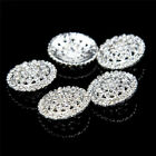 5- 125 Pcs Silver Tone Clear Crystal Round Shank Rhinestone Buttons Sewing Craft