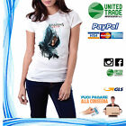 T-SHIRT MAGLIA DONNA ASSASSIN'S CREED ALTAIR FACE PLAY STATION XBOX GAME