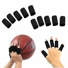 10x Black Stretchy Finger Protector Sleeve, Arthritis Support Sports Aid