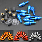 10pcs Motorcycle Windshield Windscreen Spike Bolt Kit Well Nuts / Bolts / Washer