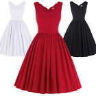 New Womens Vintage 1950's Cocktail Party Evening Dress Swing Flared Summer Dress