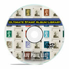 115,000 Printable Stamp Album Pages, Over 200+ Countries, 54 Books, PDF DVD E46