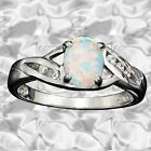 Sterling Silver Created Opal Ring size 10 Gift Boxed Avon LAST ONE