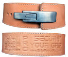 "Weight Power Lifting Leather BuckLever Pro Belt Gym Training 13MM Thick 4"" Wide"