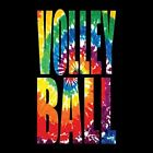 TIE DYE VOLLEYBALL CREW NECK SWEATSHIRT (UNISEX FIT) SPORTS