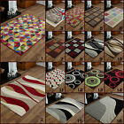 LARGE MODERN HIGH QUALITY 8MM THICK ALPHA 160 X 230CM RED GREEN CLEARANCE RUGS
