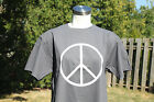 New Vintage PEACE SYMBOL T-Shirt - CHARCOAL GREY