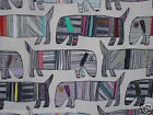 CHESS DESIGNS FRANKIE DOGS NEW 100% COTTON FABRIC CURTAINS/CUSHIONS/ROMAN BLINDS