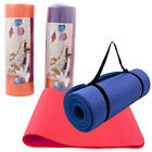 """15mm Extra Thick 72""""x24""""x0.6"""" Non-slip Fitness & Exercise Pilates Yoga Mat Pad"""