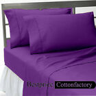 OFFER SALE PURPLE 100%COTTON 1000TC HIGH QUALITY 4PC SHEET SET SOLID ALL SIZE