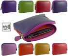 Super Soft Leather Coin Zip Purse with card holder in 4 multi colours