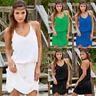 Women Summer Chiffon Casual Sleeveless Evening Party Cocktail Short Mini Dress