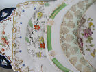 VARIATION OF PRETTY VINTAGE FLORAL CHINA  DISPLAY WALL  / CAKE SERVING PLATES