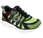 NEW SKECHERS Boys Sneakers Trainers Memory Foam EQUALIZER - QUICK TRACK Black
