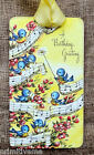 Hang Tags BLUE BIRD HAPPY BIRTHDAY GREETINGS MUSIC TAGS or MAGNET #631 Gift Tags
