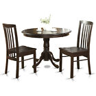 HART3-CAP 3 Piece Small Kitchen Table and Chairs Set-Round Table and 2 Chairs