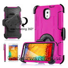 ShockProof Defender Rugged Heavy Duty Armor Tough Hard Case Cover With Belt Clip