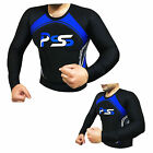 Mens Rash Guard Long Sleeve Tops Windsurfing Water Sports MMA BJJ Grappling