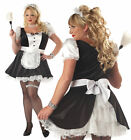 Sexy Fiona The French Maid Costume Adult Women Ladies Dress Black Plus Size New