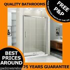 1000mm Walk In Sliding Shower Door Enclosure Glass Screen Cubicle Chrome