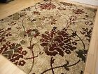 New Rug Contemporary Area Rugs Burgundy 8x10 Abstract Carpet 5x7 Flower Rugs